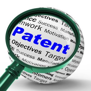 Patent Magnifier Definition Shows Protected Invention Or Legal D